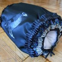 A 3/4 view raven